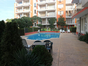 Pool view 1-Bedroom Apartment in Sunny Garden, Sunny Beach
