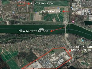 Land and warehouse for rent between Budapest and Bratislava