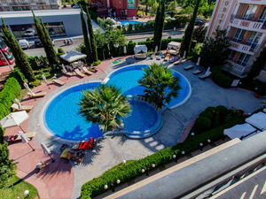 Spacious studio with Pool view in Aphrodite Palace, Sunny Be