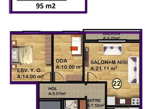 2 + 1 unit for sale in a residential complex
