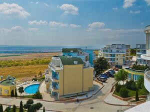 Sea view studio apartment, 34 sq.m. in Sunset Kosharitsa