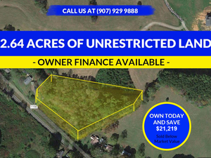 2.64 Acres - UNRESTRICTED LAND FOR SALE