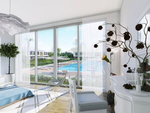 Beachfront Studio Apartment In A Complex With Wellness Cente