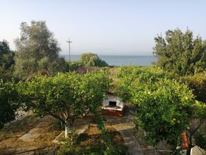 In 402m2 Yard 100 m2 Furnished Seafront  Villa in Koronisia