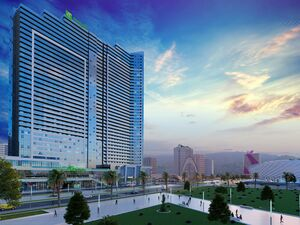 Blue Sky Tower is a new 36-storey residential and hotel comp