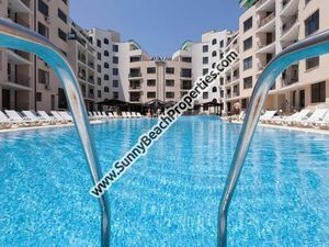 Pool view furnished 1-BR flat for sale Avalon Sunny beach